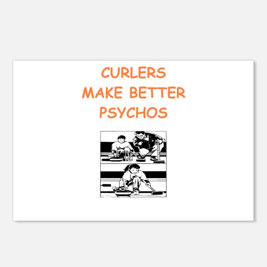 curler Postcards (Package of 8)