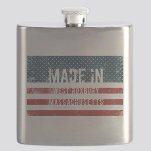 Made in West Roxbury, Massachusetts Flask