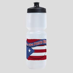2-que viva Puerto Rico cl1 Sports Bottle