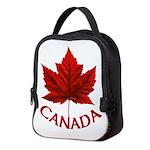 Canada Maple Leaf Souvenir Neoprene Lunch Bag