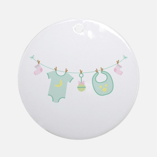Baby Clothes Ornament (Round)