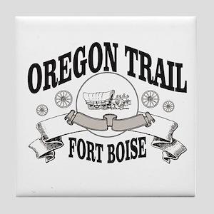 Oregon trail gray FB Tile Coaster