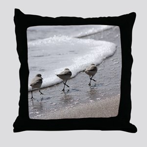 Sandpipers Throw Pillow