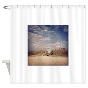 Beach Pelican Shower Curtains