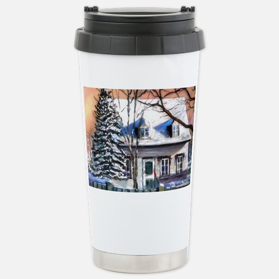 Little white house Stainless Steel Travel Mug