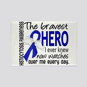 Histiocytosis Bravest Hero Rectangle Magnet