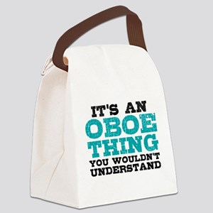 Oboe Thing Canvas Lunch Bag