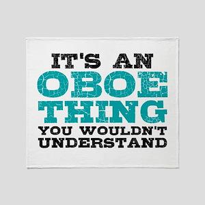 Oboe Thing Throw Blanket