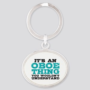 Oboe Thing Oval Keychain
