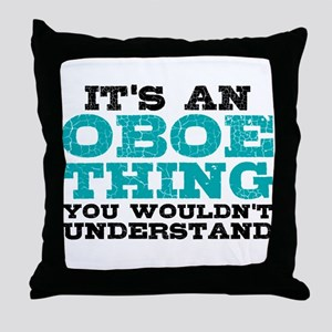 Oboe Thing Throw Pillow