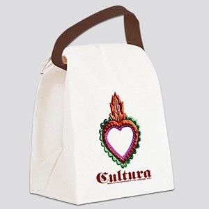 red heart design Canvas Lunch Bag