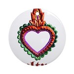 red heart design Ornament (Round)