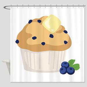 Blueberry Muffin Shower Curtain