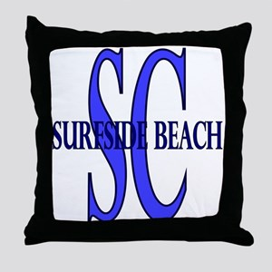 Surfside Beach SC Throw Pillow