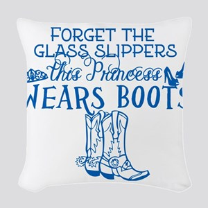 Princess in Boots Woven Throw Pillow