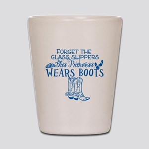 Princess in Boots Shot Glass