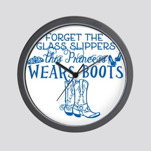 Princess in Boots Wall Clock