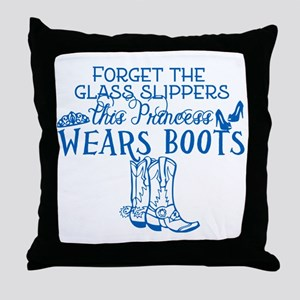 Princess in Boots Throw Pillow