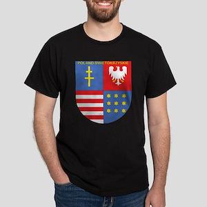 Swietokrzyskie Text on Top Dark T-Shirt