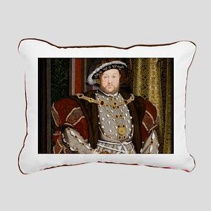 Henry VIII. Rectangular Canvas Pillow