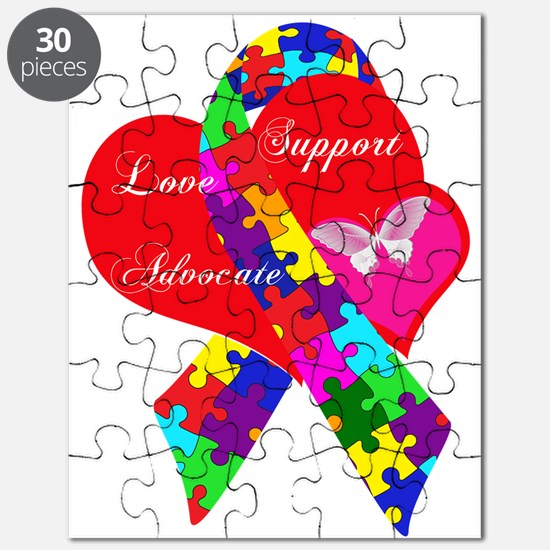 Interlaced Autism Ribbon Puzzle