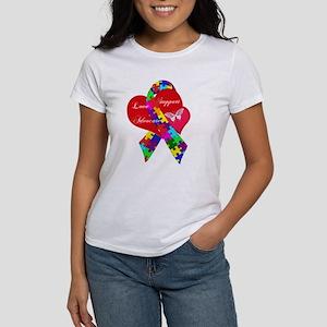 Interlaced Autism Ribbon Women's T-Shirt
