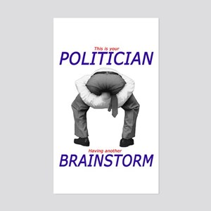 Politician's Brainstorm Rectangle Sticker