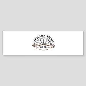 fort boise oregon trail spoke Bumper Sticker