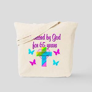 JESUS LOVE 65TH Tote Bag