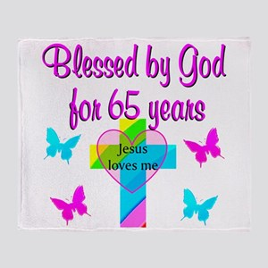 JESUS LOVE 65TH Throw Blanket