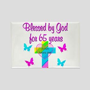 JESUS LOVE 65TH Rectangle Magnet