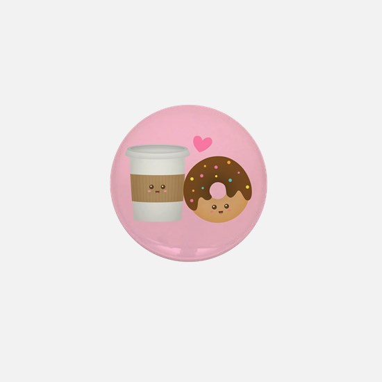 Cute Coffee and Donut in Love, Perfect Pair Mini B
