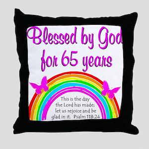 65TH GODS GRACE Throw Pillow