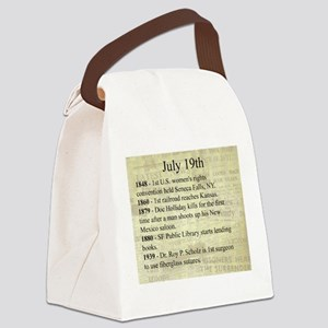 July 19th Canvas Lunch Bag