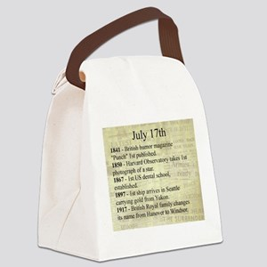 July 17th Canvas Lunch Bag