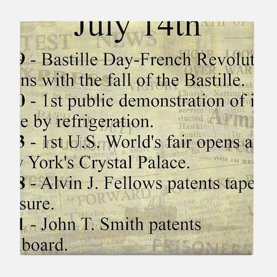 July 14th Tile Coaster