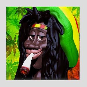 Rastaman Marijuana Caricature 3d Tile Coaster