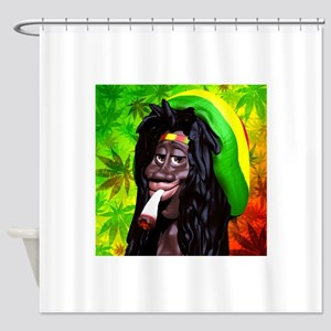 Rastaman Marijuana Caricature 3d Shower Curtain
