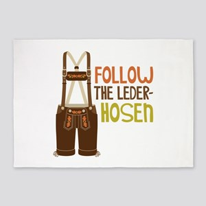 FOLLOW THE LEDER-HOSEn 5'x7'Area Rug