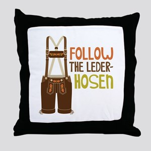 FOLLOW THE LEDER-HOSEn Throw Pillow