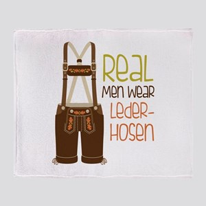 ReaL Men WeaR LedeR Hosen Throw Blanket