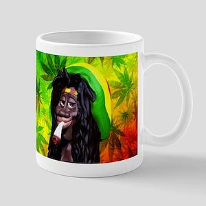 Rastaman Marijuana Caricature 3d Mugs