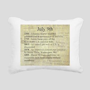 July 9th Rectangular Canvas Pillow