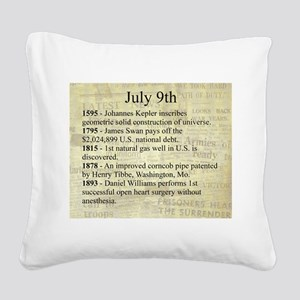 July 9th Square Canvas Pillow
