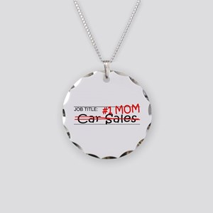 Job Mom Car Sales Necklace Circle Charm