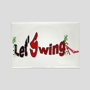 Let's Swing Rectangle Magnet