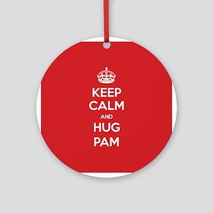 Hug Pam Ornament (Round)
