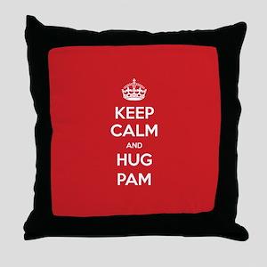 Hug Pam Throw Pillow