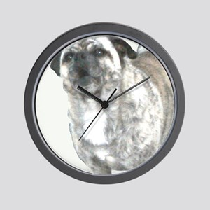 Barking Bully-No Background Wall Clock