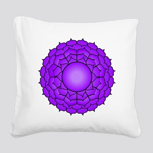 The Crown Chakra Square Canvas Pillow